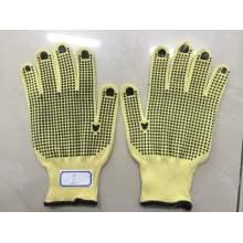 Doppelseitige gepunktete PVC-Handschuhe aus Kevlar