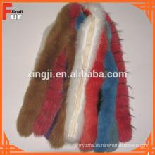 Capucha 100% Real Fox Fur Trim Hood