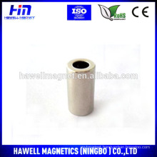 Silver Cylinder ring magnet N50 grade with hole