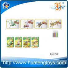 2014 Juguete educativo del colorante del pintor de la litera al por mayor, juguete del rompecabezas 3D del rompecabezas de la pintura del insecto para los cabritos H124752