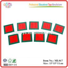Montessori Materials Promotional Educational Toys Metal Squares