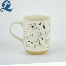 Оптовые цены на заказ собак напечатали дешевые кофейные чашки керамические кружки