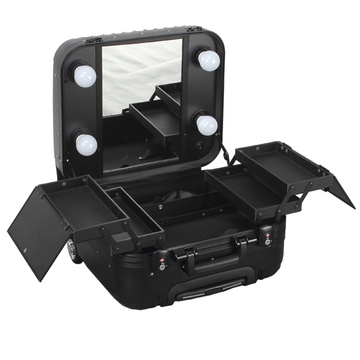 Professional Aluminium Makeup Case with Lights and Mirror