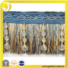 New Design Wholesale Handmade Curtain Beaded Tassel Fringe