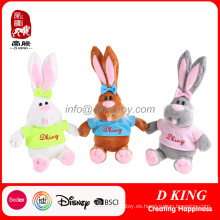 Conejo de juguete suave Conejito de felpa Juguete para Pascua Juguete relleno