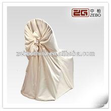 Heißes verkaufendes Polyester-Satin-Gewebe-preiswerter Großhandels-halber hinterer Stuhl-Abdeckungen