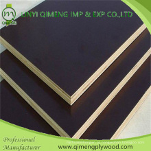 O filme de exportação profissional da cor do preto da categoria da construção 15mm enfrentou a madeira compensada