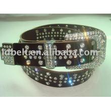 Genuine leather Belt fashion crystal belt