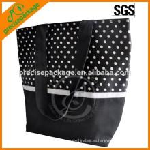 Bolso de playa de moda de algodón de alta calidad con punto