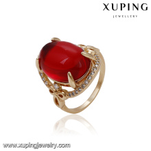 14565 xuping jewelry 18k gold plated fashion new designs gold finger ring for women