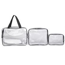 OEM профессиональный пластиковый водонепроницаемый путешествия обычная ПВХ прозрачная косметичка прозрачная