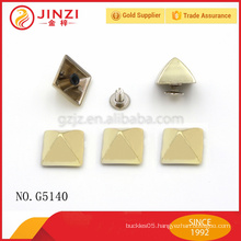 Gold color classic style handbags hardware rivets for bag decoration