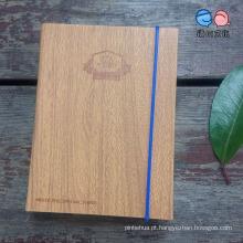 China Stationery Factory Supply Notebook PU com faixa Elástica (XL-64K-PG-01)