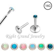 16 Gauge intern Gewinde Opal billige Lippe Ringe