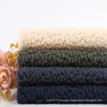 heavy fleece fabric 500gsm 100% Polyester Knitted Sherpa Fleece Fabric