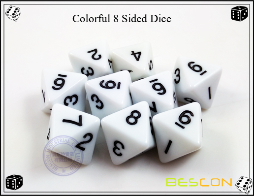 Colorful 8 Sided Dice-2