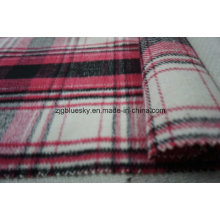 Wool Fabric for Overcoating with Plaid
