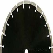 Lâminas de serra de diamante com dentes de proteção para corte de concreto asfáltico e verde