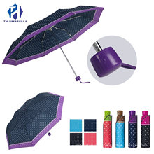 3 Fold Manual Open Windproof Fabric Fashion Sun Umbrellas