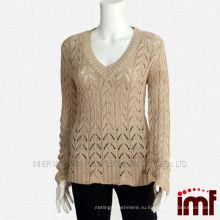 Дамский кашемировый трикотажный свитер