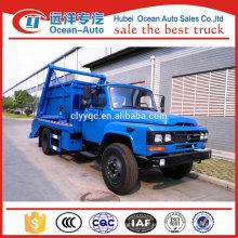 Dongfeng 6cbm swing braço caminhão de lixo