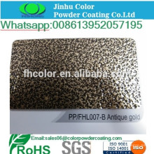 Revestimiento en polvo de vetas de oro electrostático de metal pulverizado