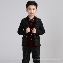 High quality 2color 4pcs set tie+vest+pants+shirt baby boys winter wedding suit for children boys