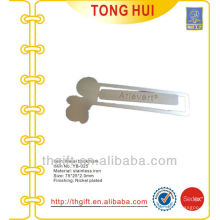 Irregular shape engraved logo metal bookmarks /Souvenir metal bookmarks for books
