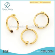 2015 fashion new arrival round gold store designs for jewelry sets