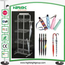 Support de présentoir de parapluie en métal