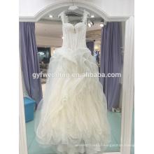 2017 new sling halter A pendulum court level elegant Slim wedding dress with thin thin trailer LJ-10037