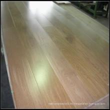 Suelo de madera dirigido de roble blanco natural / suelo de madera