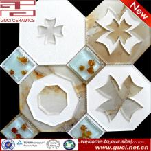 telhas de vidro do mosaico do tamanho grande no acrílico para a telha home da cozinha