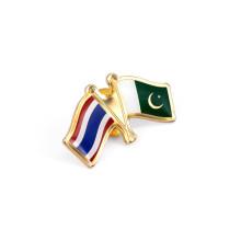 Pin de lapela bandeira nacional, emblemas de metal (gzhy-lp-023)