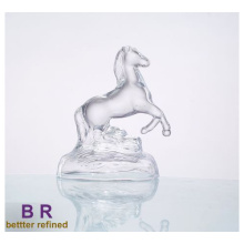 Decorative Clear Impetuous Horse Glass Decoration