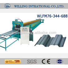 Decking Floor Roll Forming Machine for Galvanized or Aluzinc Steel Metal Sheet