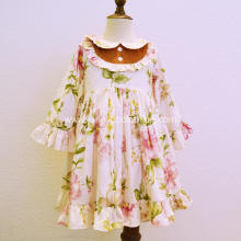 Wholesale Autumn Baby Girls Floral Party Dresses