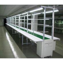 Automatische Montage Gürtelförderer mit Werkbank / Montage Werkbank