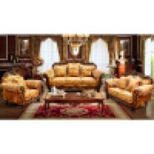Conjunto de sofá de madeira para móveis para casa e mobília do hotel (929)