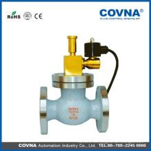 Válvula de cierre de emergencia de gas 24v F3 / 4 pulgadas válvula de solenoide de brida