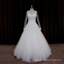 Exquisite Beaded Strap Sexy Long Wedding Dresses