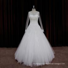 Изысканный Бисером Ремень Сексуальный Длинная Свадебные Платья