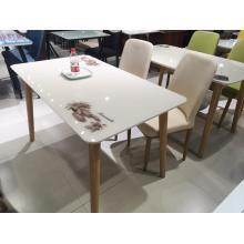Новый современный простой журнальный столик с обеденным столом