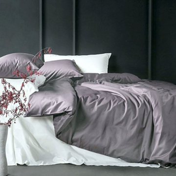 Solid Cotton Sateen Duvet Omslag