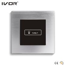 1 Interruptor de encendido de pandillas Marco de aluminio de contorno de aleación de panel táctil (HR1000-AL-L1)