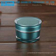 YJ-R50 50g cor correta correspondente parede dupla alto acrílico transparente 50g do atarraxamento rodada jar
