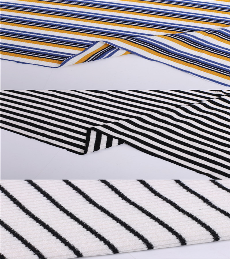 Customized Rib Knitting Coarse Needle Fabric For Ladies.01