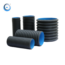 factory price black plastic transparent hdpe sewer pipe