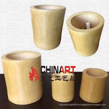Natürlicher Bambus Pinsel Topf / Stifthalter / Stiftbehälter (CB08)