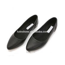 Новый дизайн моды дамы женщин балерина обувь 2015 черные леди плоские туфли